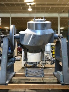 GemCo Slant Cone Blender 20 Cu Ft with GemComatic automatic drum loading and discharging system(AA-7091)