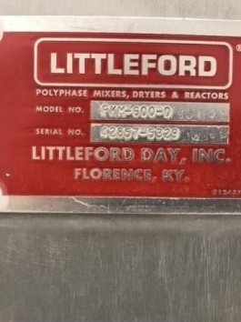 Littleford FKM-600-D High Intensity Mixer (AA-8009)