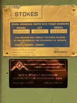 Stokes Model R-4, 20 Ton Powder Compacting Tablet Press (AA-8074)