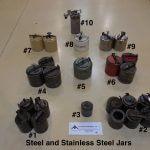 Various Steel Mill Jars (AA-6265)