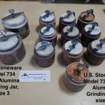 U.S. Stoneware Model 734 High Alumina Grinding Jar, size 1 & 3 (AA-6868)