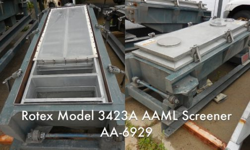 Rotex Model 3423A AAML General Purpose Rotex Screener (AA-6929)