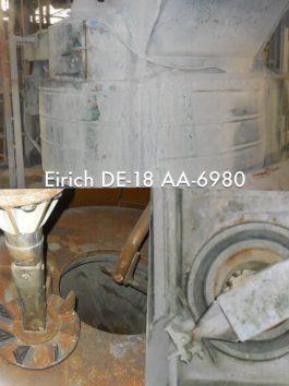 Eirich Model DE-18, 36 cu ft. (1,019 liters) Intensive Action Mixer (AA-6980)