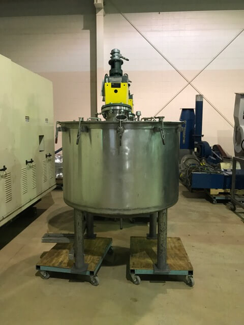 Vertical 250 Gallon Agitated Stainless Steel Process Tank (AA-7024)