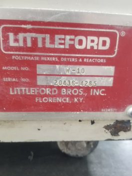 Littleford Model W-10, 10 liter Stainless Steel High Intensity Lab Mixer  (AA-8014)